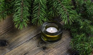 Christmas pine fur scented candle