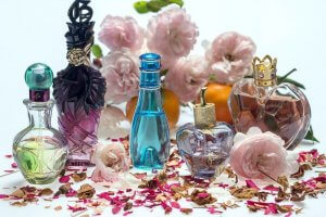 Rose Essential Oil Perfume And Bottles