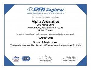 13821 Alpha Aromatics March 19 2020